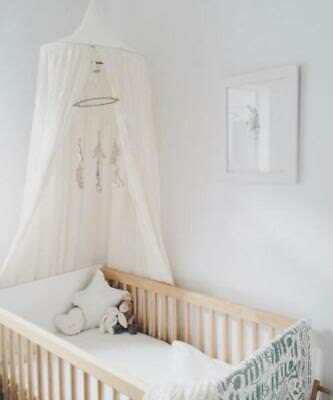 Canopy Tent Mosquito Net Dome Baby Nursery Crib Bedroom Cotton - White