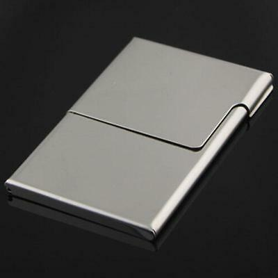 Pocket stainless steel metal business card holder case id credit metal box stainless steel business card holder credit id card wallet case purse colourmoves