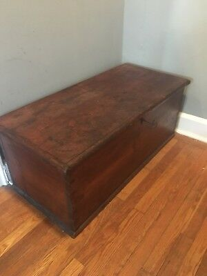 Antique Wood Blanket Chest Coffee Table