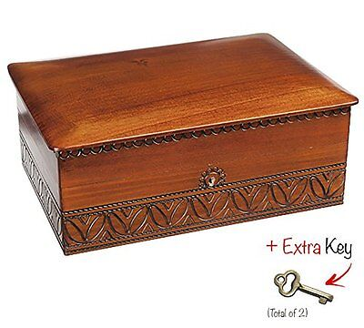 EXTRA LARGE Wood Box Polish Handmade Wooden Jewelry Box Keepsake