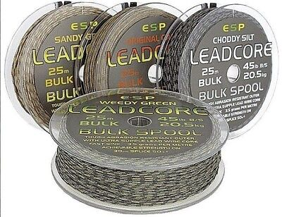 ESP Bulk Leadcore (25m): Choddy Silt, Weedy Green or Sandy Gravel *£5.95 off*