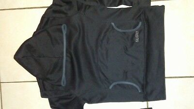 Saucony Black Workout Fitness Hoodie, Long Sleeved Shirt Running,yoga,gym Euc!!