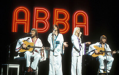 Abba rare 12x18 concert photo poster, photograph from original Slide, Live Tour