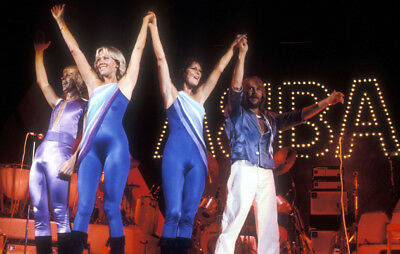 Abba rare 12x18 concert photo poster photograph from original Slide, Live Tour
