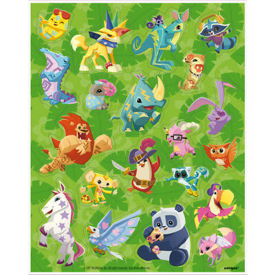 4 Animal Jam Sticker Sheets Favors Kids Sleep Over Online Game Birthday Party