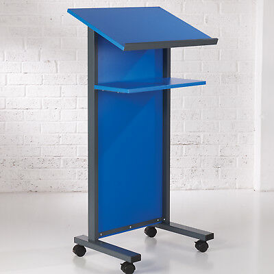 Blue Panel Front Lectern