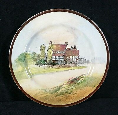 """Vintage Hand Painted Royal Doulton Plate Shakespeare Country Bidford 6.5""""Diam VF"""