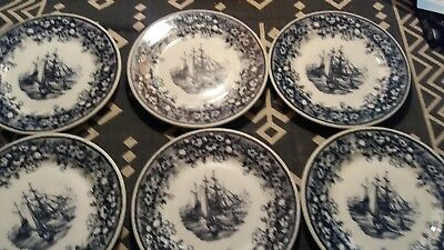 Lamberton Scammell China Tall Ships Lunch Plates Set of Six