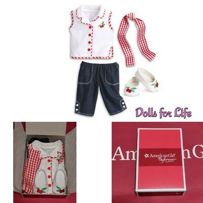 American Girl MARYELLEN PLAY OUTFIT Cherry Summer Clothes shoes NEW IN BOX