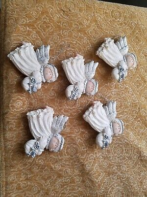 Antique collector Angel Christmas ornaments.  Vintage Christmas  decor set of 5