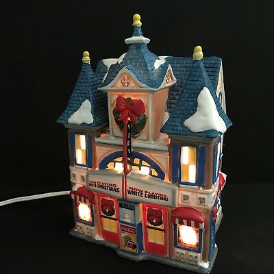 Coca-Cola 1993 Christmas Town Square Collection Strand Theater Lighted Building