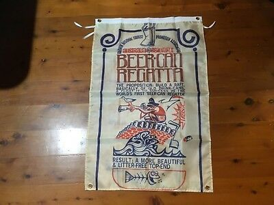 Darwin beer can regatta advertising Banner poster man cave flag nt draught  emu
