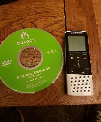 Olympus VN-8500PC Digital Voice Recorder with Dragon software for dictation