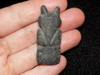 Pre-Columbian Avian Axe God Pendant, Costa Rica, Authentic