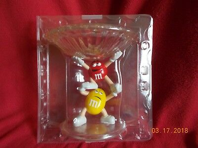 Yellow And Red M&m Acrylic Candy Dish! Must Have! Excellent Condition!