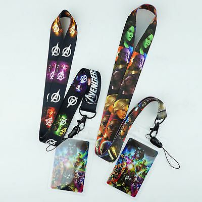 Marvel Avengers Infinity War Neck Strap Lanyard Cell Phone Rope KeyChain Thanos