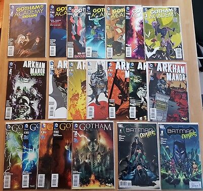 Lot 21 Comics VO DC Batman Orphans _Arkham Manor _ Gotham Academy _ By Midnight