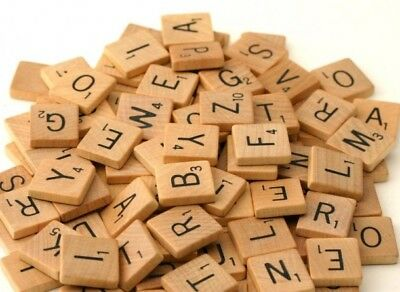 INDIVIDUAL WOOD SCRABBLE TILES: LETTERS Game Pieces Crafts Alphabet Tiles A-Z