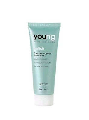 Natio Young Pore Unclogging Face Scrub 100mL