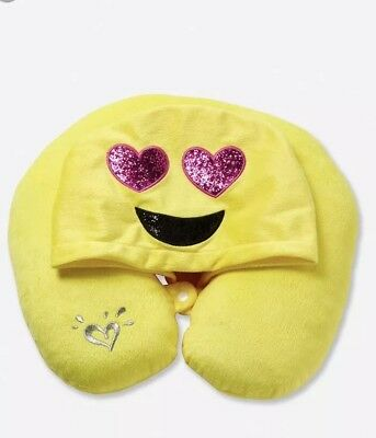 NWT Justice Travel emoji pillow 💕💕💕💕detachable Hood! Last One!