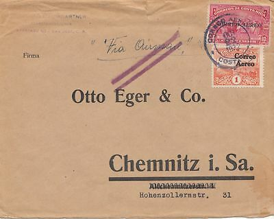 Costa Rica: 1922: San Jose to Chemnitz