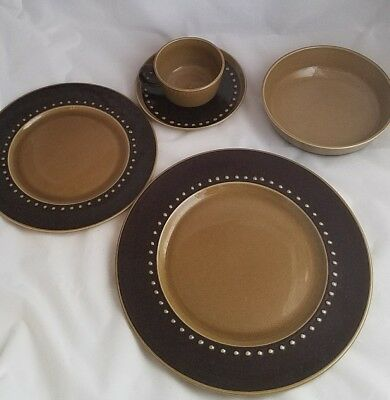 Franciscan Ware Tahiti 5 piece place setting vintage