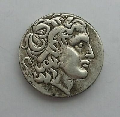 Rare Ancient Alexander III The Great Greek Token 336-323 BC Silver Plated Drachm