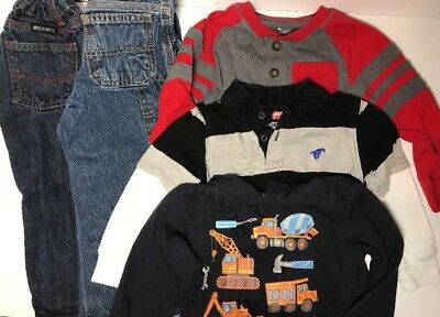 Boys Clothing Lot Of 3t Jeans Shirts One With Hood