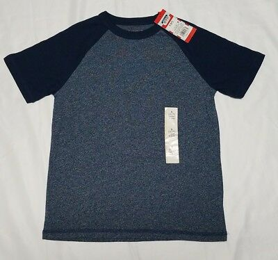 Child Boys Shirt Summer Tee Size Small 6/7 Navy Voyager Heather CAT & JACK NEW