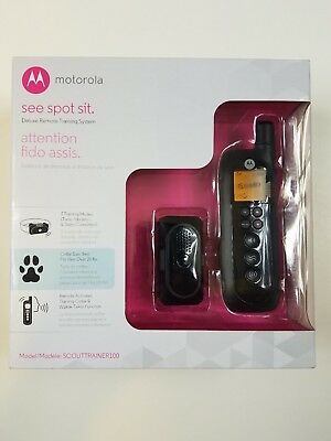 Motorola SCOUTTRAINER100 Deluxe Remote Training System Collar NEW Walkie Talkie