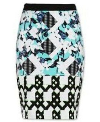 Women's Clothing Nwt Peter Pilotto For Target Floral Check Skirt Size 16 100% Original Skirts