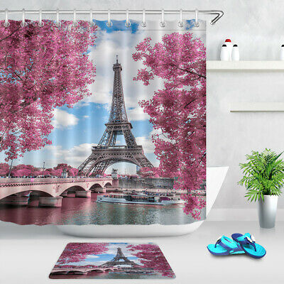 Rose Gold Shower Curtain Set Bathroom Accessories 71 Waterproof Fabric Hooks