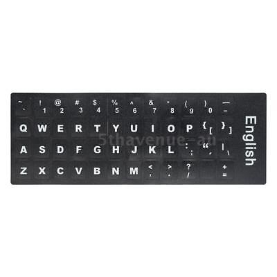 White Letters Non-transparent English Standard Keyboard Sticker Durable