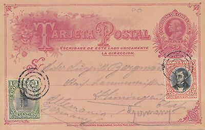 Costa Rica: 1904: post card Limona