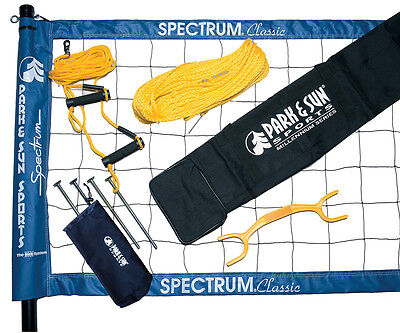 Park & Sun TS-CL Spectrum Classic Volleyball Set, Blue Net