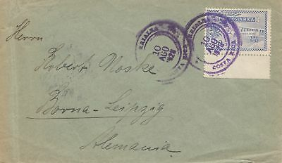 Costa Rica: 1926 air mail Turrialba to Borna-Leipzig