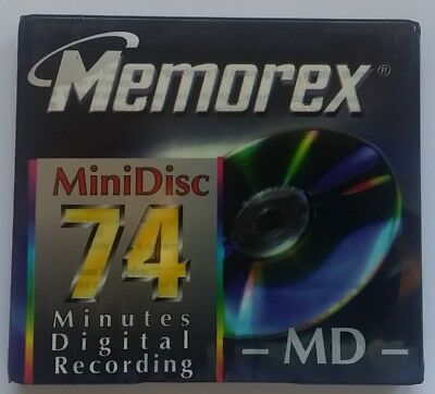 1 x Memorex Recordable MiniDisc 74 Minutes MD New & Sealed Blank