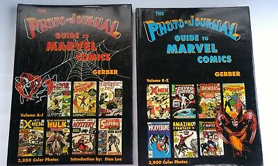 "2 Vol Set ""The Photo-Journal Guide To Marvel Comics"" By Gerber! 7500+ Color Pics"