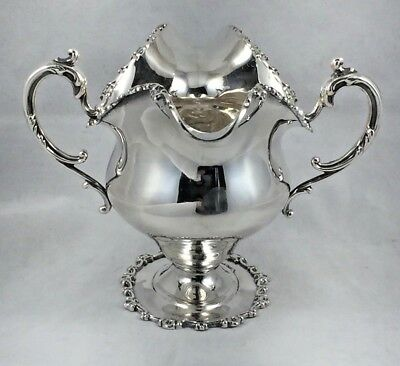 Beautiful Floral Sterling Decorated by Frank Smith 2 Handle Gravy Boat