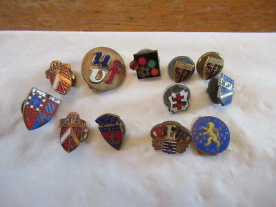 ancien lot insigne pin's badge agraffe emaillée fff football rugby region