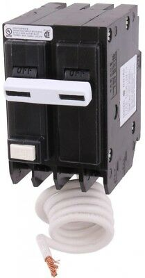 GE 2 Pole Circuit Breaker 30 Amp Double Pole Ground Fault with Self-Test New
