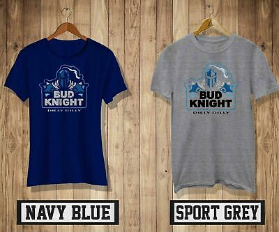 d9197a27 BUD KNIGHT T-Shirt Mens/Womens Navy&Grey Colour Dilly Dilly Super Bowl Tee  New