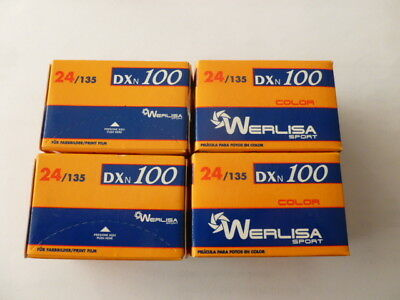4X Werlisa (España) date expired (10/2008) 35mm 100 iso film 24 Exp. color.