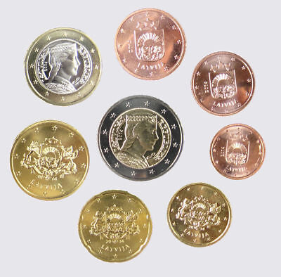"Latvia 2014 - Set of 8 Euro Coins (UNC) ""RARE"""