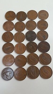 Ireland Pennies Lot of 24 Nice Coins Date Range 1928 - 1968