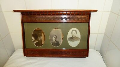 Antique Edwardian Mahogany Picture Frame Francis East Company Dundee