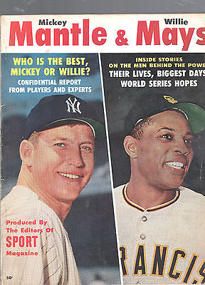 1962 Mickey Mantle & Willie Mays Baseball Magazine-Sport-Yankees-Giants-80 Pages