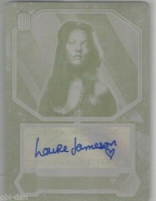 DOCTOR WHO Louise Jameson autograph Yellow printing plate Leela 1/1 2015 TOPPS