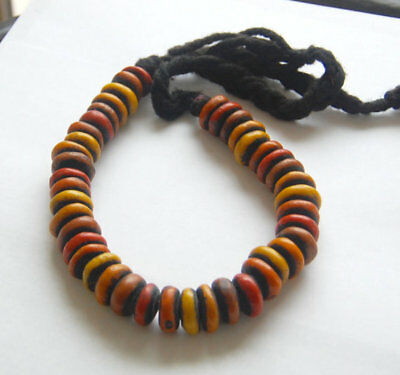 African Berber Amber Resin Necklace from Morocco, Circle of Stones jewelry,