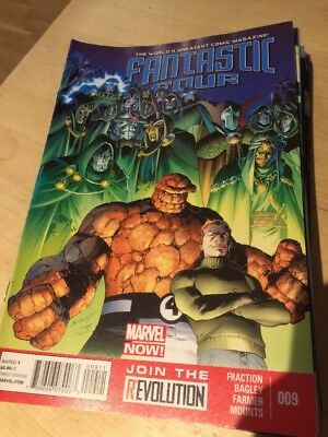 Fantastic Four Marvel Comic Book Us Issue #9 August 2013